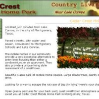 Cedar Crest Mobile Home Park Lots